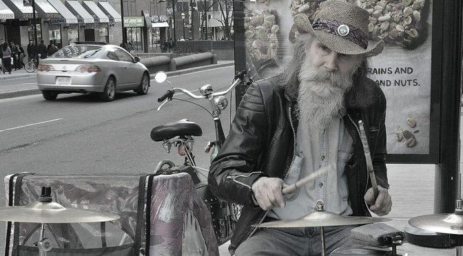 Homeless BayStreet Broker Entertain Canada