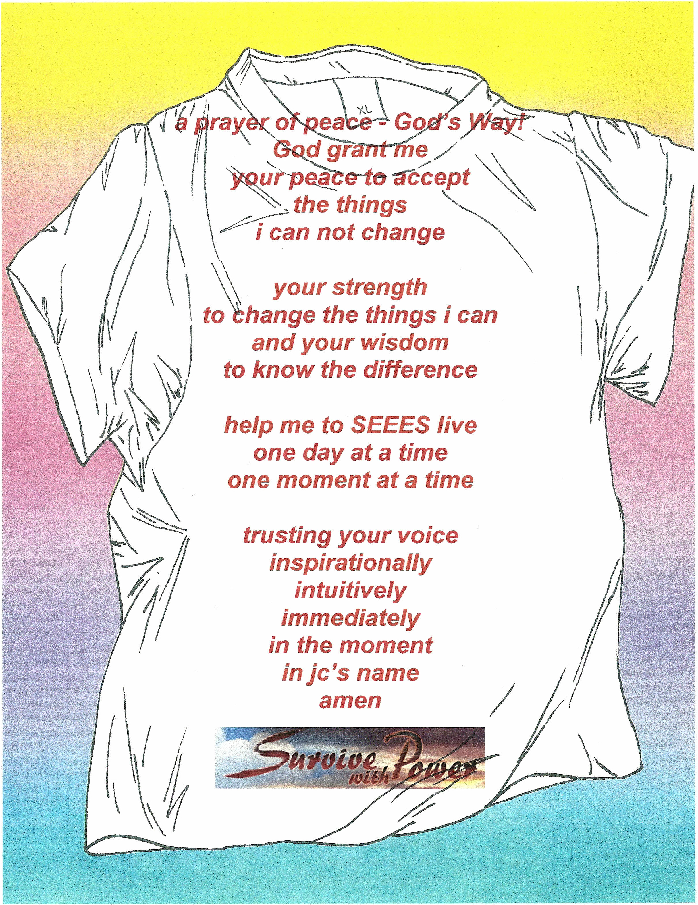 Prayer of Peace T Shirt