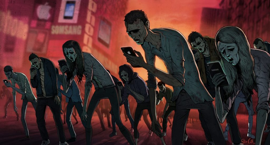 Follow Ur Cell Phone Walking Dead Youth